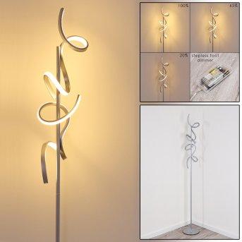 Lampadaire Lavaca LED Argenté, 2 lumières