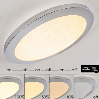 Plafonnier Fasola LED Nickel brillant, 1 lumière