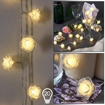 Guirlande Sondrio LED, 20 lumières