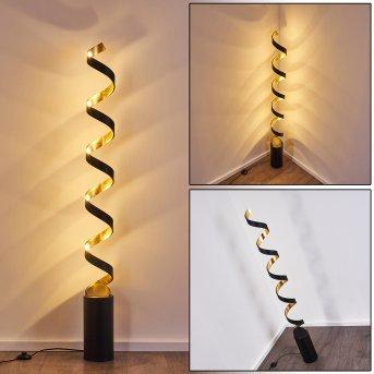 Lampadaire Rezat LED Noir doré, 1 lumière