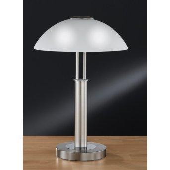 Lampe à poser Wofi PRESCOT Nickel mat, 2 lumières