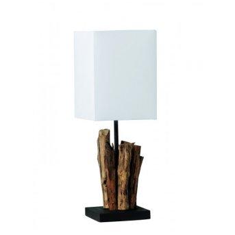 Lampe à poser Paul Neuhaus ABUJA Bois foncé, 1 lumière