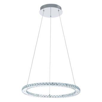 Suspension Eglo VARRAZO LED Chrome, Aspect cristal, 1 lumière