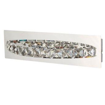 Applique murale Searchlight CLOVER LED Chrome, Argenté, Transparent, 1 lumière