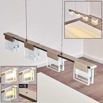 Suspension Aadorf LED Nickel mat, 4 lumières