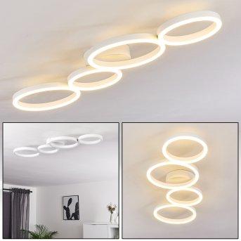Plafonnier Grasse LED Blanc, 1 lumière