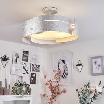 Plafonnier Novara Argenté, 3 lumières