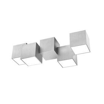 Plafonnier Grossmann ROCKS LED Aluminium, 4 lumières