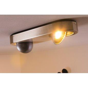 Plafonnier Granada LED Nickel mat, 2 lumières