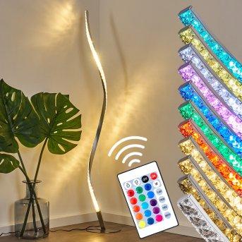 Lampadaire Saginaw LED Nickel mat, 1 lumière, Télécommandes, Changeur de couleurs