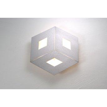 Plafonnier Bopp-Leuchten BOX COMFORT LED Argenté, 3 lumières