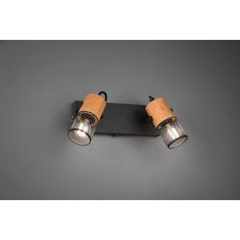 Spot Trio Tosh LED Noir, 2 lumières