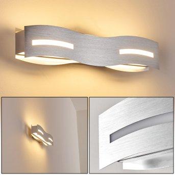 Applique murale Nagold LED Nickel mat, Chrome, 1 lumière
