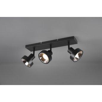 Spot Trio Leon LED Noir, 3 lumières