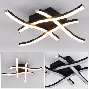 Plafonnier Letala LED Noir, 4 lumières