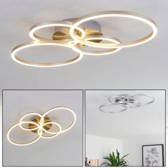 Plafonnier Malanje LED Nickel mat, 4 lumières