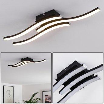 Plafonnier Letala LED Noir, 3 lumières