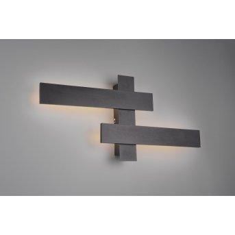 Applique murale Trio Belfast LED Noir, 2 lumières