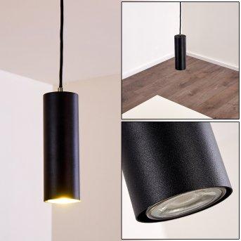 Suspension Zuoz Noir, 1 lumière