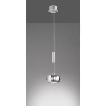 Suspension Fischer & Honsel Colette LED Nickel mat, 1 lumière