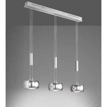 Suspension Fischer & Honsel Colette LED Nickel mat, 3 lumières