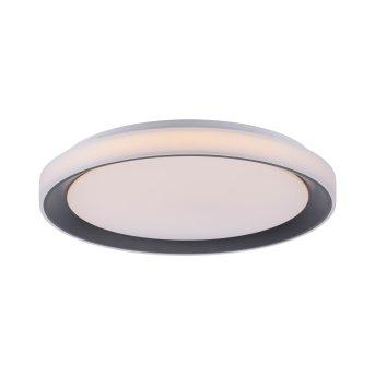 Plafonnier Leuchten-Direkt LOLAsmart_DISC LED Noir, 1 lumière, Télécommandes, Changeur de couleurs