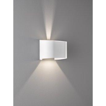 Applique murale Fischer & Honsel Wall LED Blanc, 2 lumières