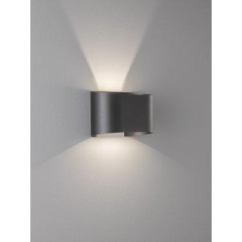 Applique murale Fischer & Honsel Wall LED Noir, 2 lumières