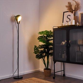 Lampadaire Foverup Chrome, Noir, 1 lumière