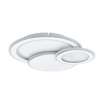 Plafonnier Eglo MENTALURGIA LED Chrome, Blanc, 1 lumière