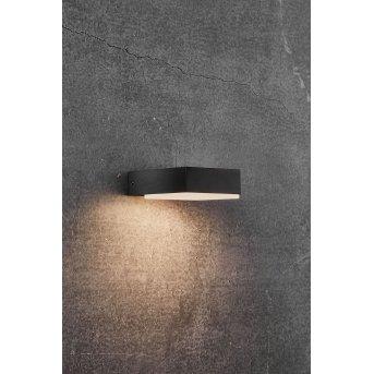 Applique murale d'extérieur Nordlux PIANA LED Noir, 1 lumière