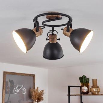 Plafonnier Banjul Noir, 3 lumières