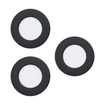 Spot encastrable Eglo FUEVA LED Noir, 3 lumières