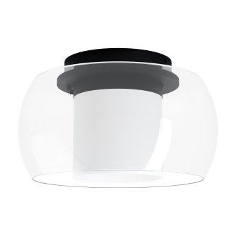 Plafonnier Eglo BRIAGLIA LED Noir, 1 lumière, Changeur de couleurs
