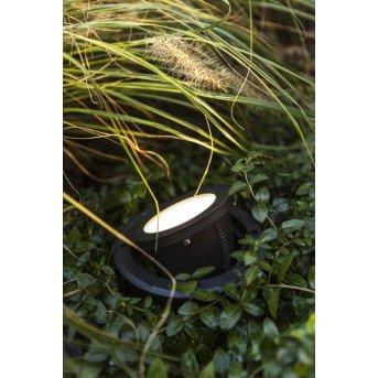 Spot encastrable au sol LUTEC ARTIC LED Noir, 1 lumière
