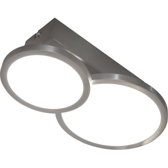 Plafonnier Nino-Leuchten NEO LED Nickel mat, 2 lumières