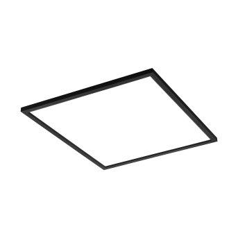 Plafonnier Eglo SALOBRENA LED Noir, 1 lumière, Changeur de couleurs