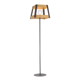 Lampadaire Leuchten-Direkt CRATE Bois clair, 1 lumière