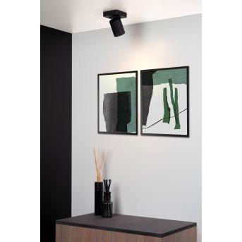 Spot de plafond Lucide NIGEL LED Noir, 1 lumière