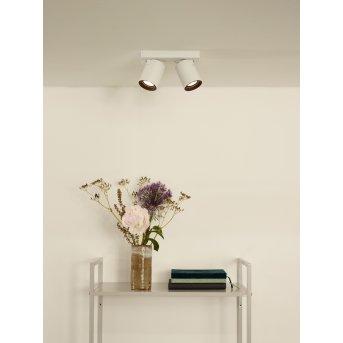 Spot de plafond Lucide NIGEL LED Blanc, 2 lumières