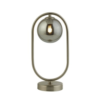Lampe de table Searchlight Nickel mat, 1 lumière