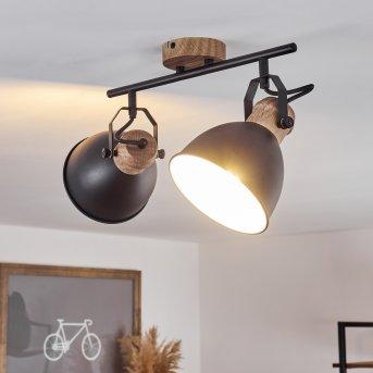 Plafonnier Banjul Noir, 2 lumières