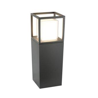 Lampe d'extérieur Searchlight OHIO LED Gris, Blanc, Transparent, 1 lumière