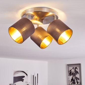 Plafonnier Alsen Nickel mat, 3 lumières