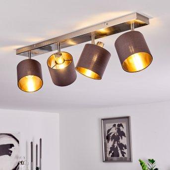 Plafonnier Alsen Nickel mat, 4 lumières