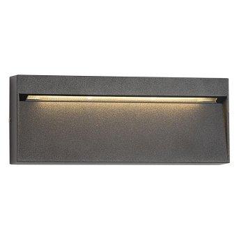 Applique murale d'extérieur KS Verlichting Shadow LED Noir, 1 lumière