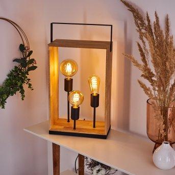 Lampe de table Kabimoi Bois clair, 3 lumières