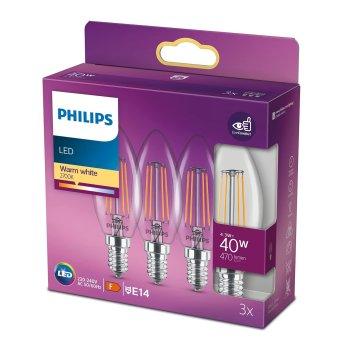 LED 3er Pack E14 40 Watt 2700 Kelvin 470 Lumen Philips