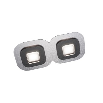 Plafonnier Grossmann AP LED Noir, Aluminium, 2 lumières