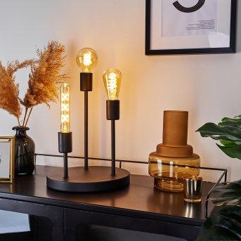 Lampe de table Travesias Noir, 3 lumières
